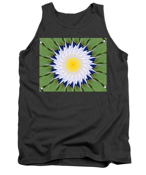 Water Lily Kaleidoscope Tank Top by Bill Barber
