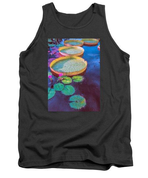 Water Lily Pattern Tank Top by John Rivera