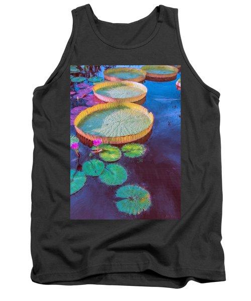 Water Lily Pattern Tank Top