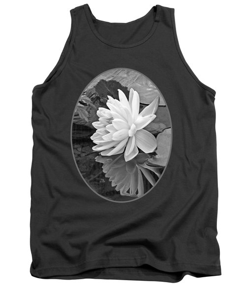 Water Lily Reflections In Black And White Tank Top by Gill Billington