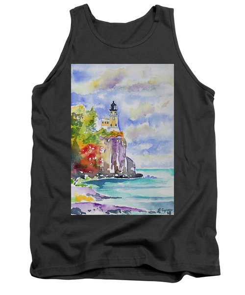 Watercolor - Autumn At Split Rock Lighthouse Tank Top