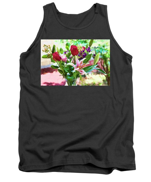 Watercolor Bouquet Tank Top