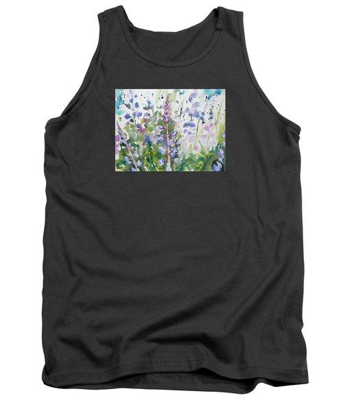 Watercolor - Lupine Wildflowers Tank Top