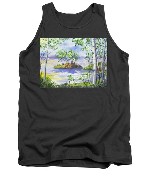 Watercolor - Minnesota North Shore Landscape Tank Top
