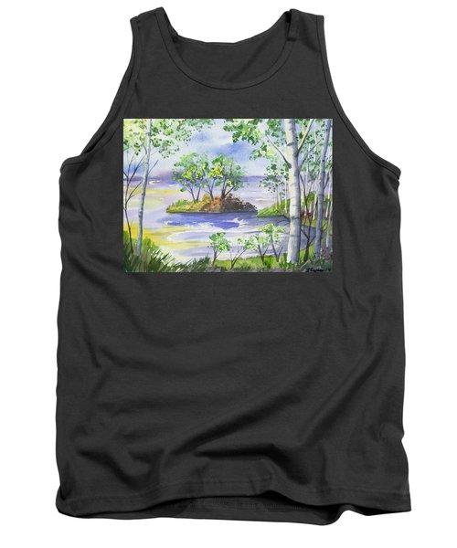 Watercolor - Minnesota North Shore Landscape Tank Top