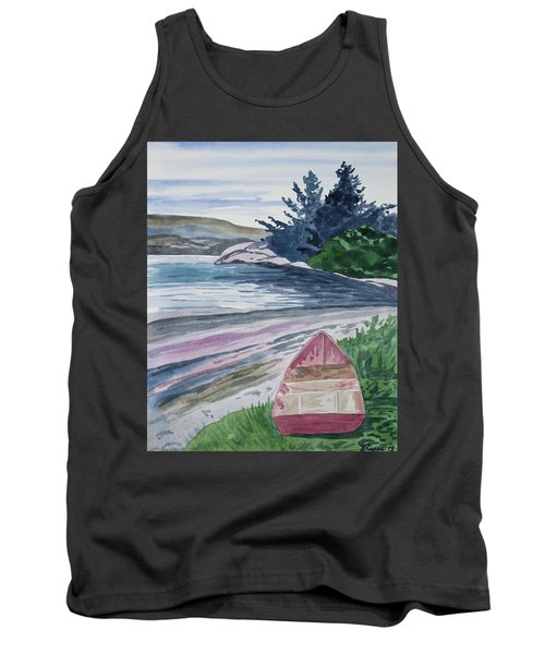 Watercolor - New Zealand Harbor Tank Top