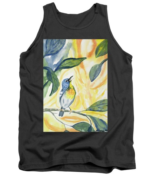 Watercolor - Northern Parula In Song Tank Top