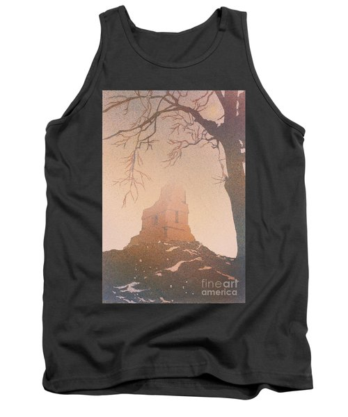 Tank Top featuring the painting Watercolor Painting Of Mayan Temple- Tikal, Guatemala by Ryan Fox