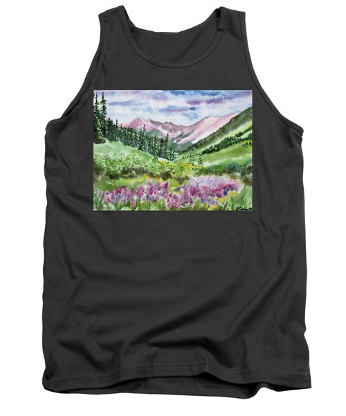 Watercolor - San Juans Mountain Landscape Tank Top