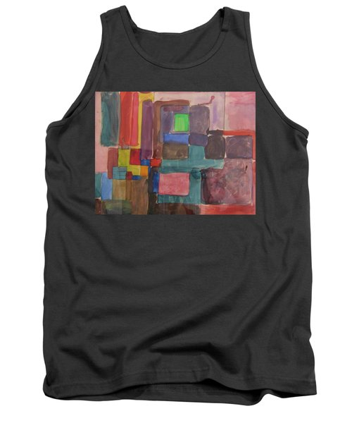 Watercolor Shapes Tank Top by Barbara Yearty