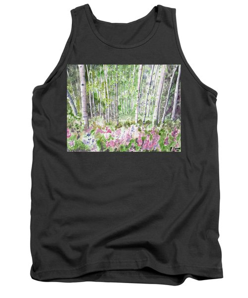 Watercolor - Summer Aspen Glade Tank Top