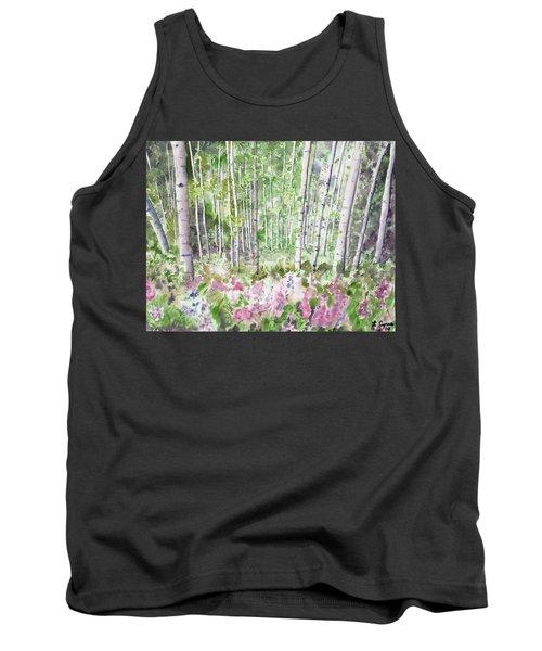 Watercolor - Summer Aspen Glade Tank Top
