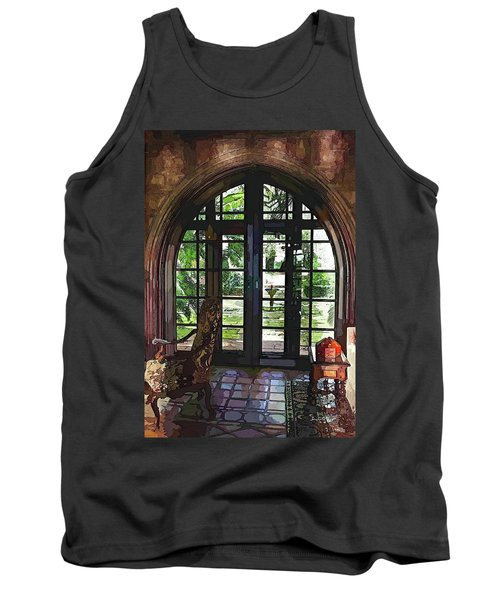 Watercolor View To The Past Tank Top by Susan Molnar