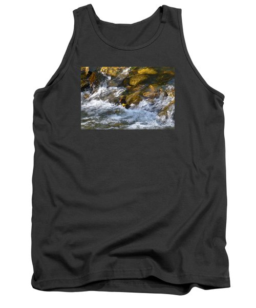 Tank Top featuring the photograph Watercourse by Jean Bernard Roussilhe