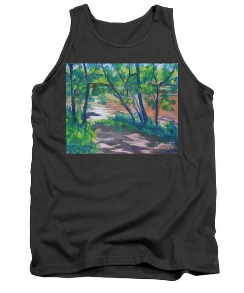 Watercress Beach On The Current River   Tank Top by Jan Bennicoff