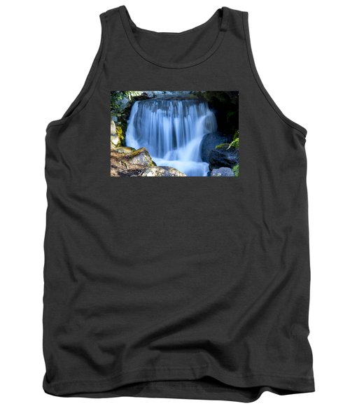 Waterfall At Dow Gardens, Midland Michigan Tank Top by Pat Cook