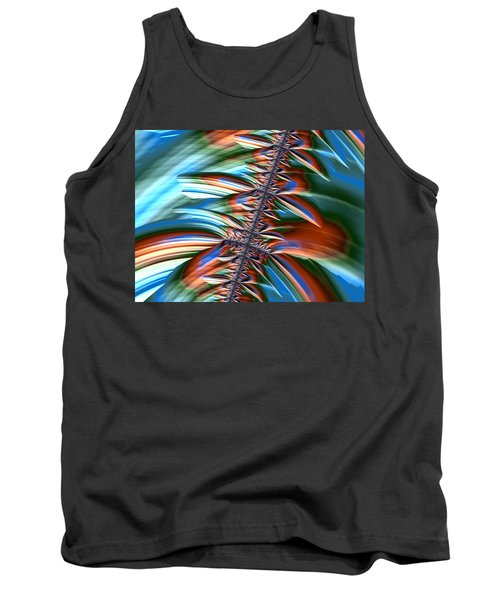 Tank Top featuring the digital art Waterfall Fractal 2 by Bonnie Bruno