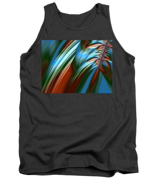 Tank Top featuring the digital art Waterfall Fractal by Bonnie Bruno