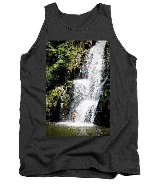 Waterfall In New Zealand Tank Top