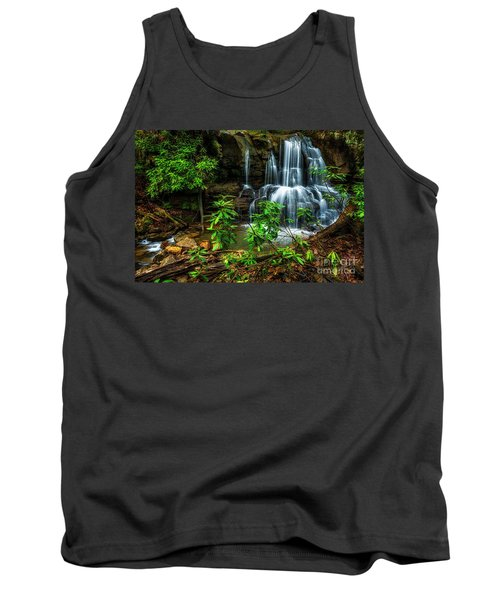 Tank Top featuring the photograph Waterfall On Back Fork by Thomas R Fletcher