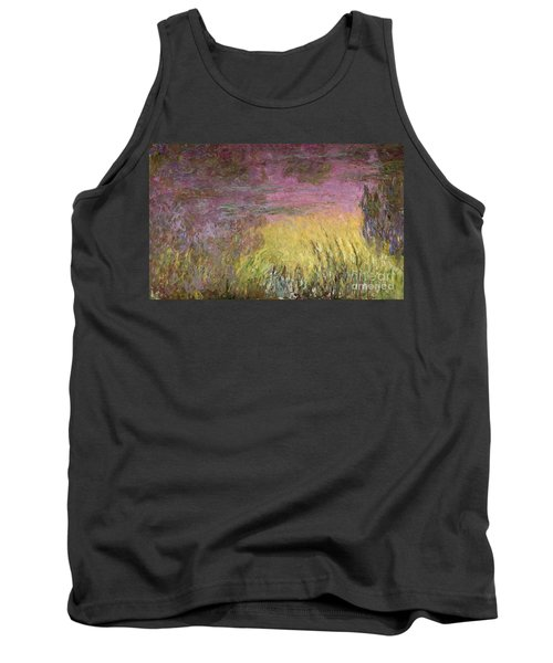 Waterlilies At Sunset Tank Top