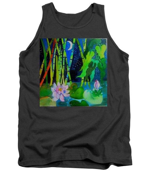 Waterlillies At Midnight Tank Top