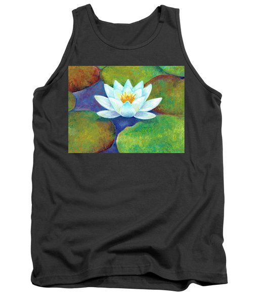 Tank Top featuring the painting Waterlily by Elizabeth Lock
