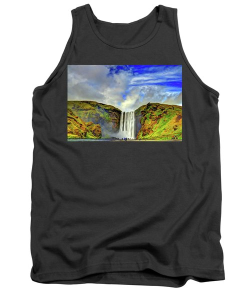 Tank Top featuring the photograph Watermall And Mist by Scott Mahon