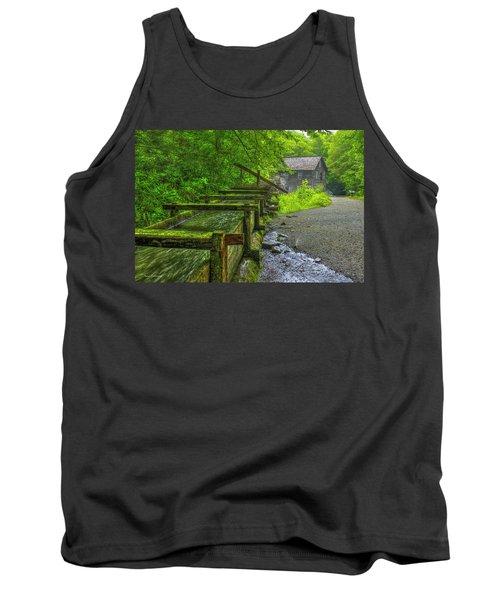 Tank Top featuring the photograph Waterworks Mingus Mill Mingus Creek Art  Great Smoky Mountains Art by Reid Callaway