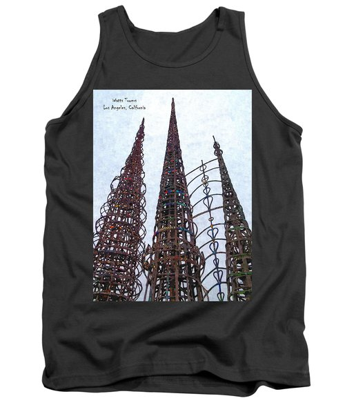 Tank Top featuring the photograph Watts Towers 2 - Los Angeles by Glenn McCarthy Art and Photography