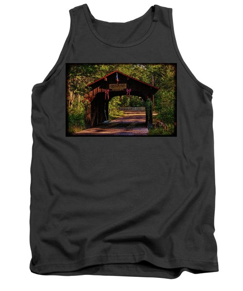 Tank Top featuring the photograph Waupaca Covered Bridge by Trey Foerster