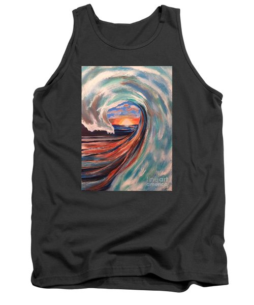 Tank Top featuring the painting Wave by Denise Tomasura