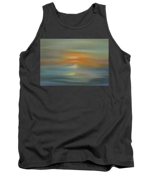Wave Swept Sunset Tank Top by Dan Sproul