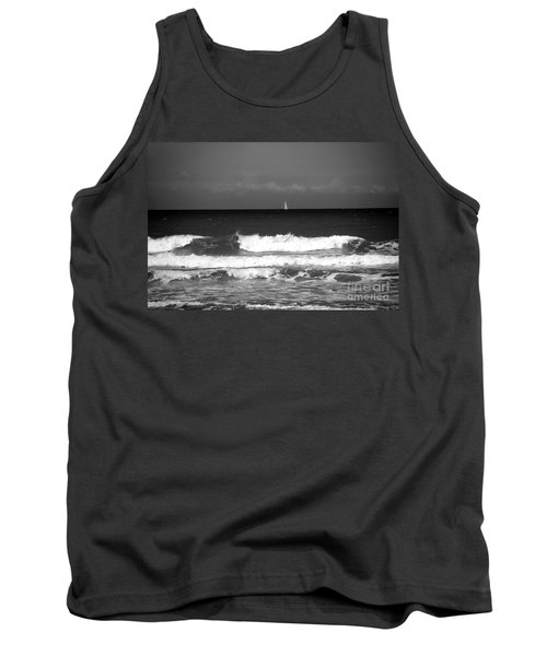 Waves 4 In Bw Tank Top