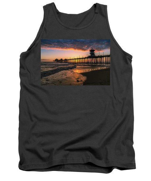 Waves At Sunset Tank Top