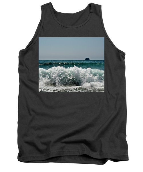 Tank Top featuring the photograph Waves Of Pacific Ocean. Coromandel,new Zealand by Yurix Sardinelly