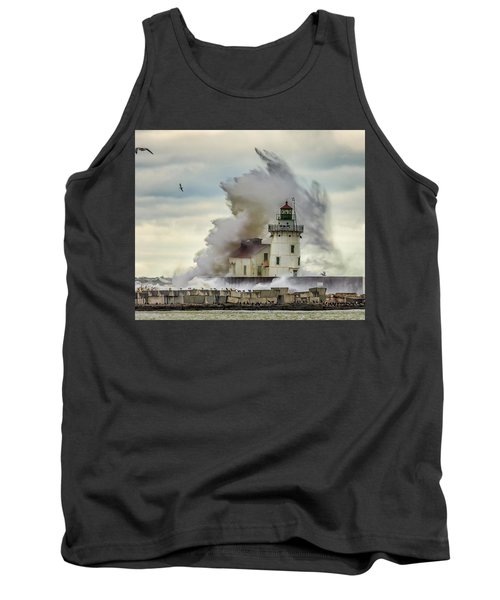 Waves Over The Lighthouse In Cleveland. Tank Top