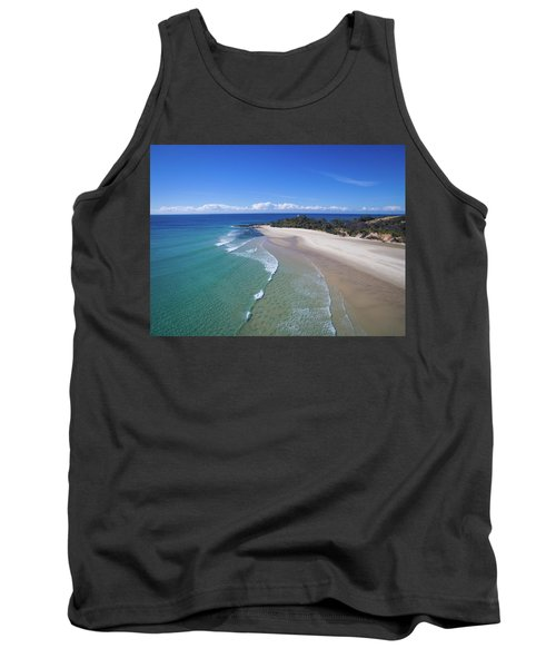 Waves Rolling In To North Point Beach On Moreton Island Tank Top