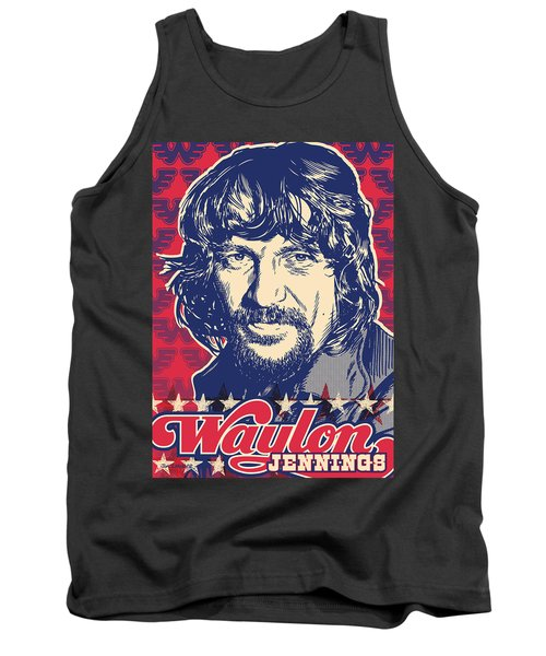 Waylon Jennings Pop Art Tank Top