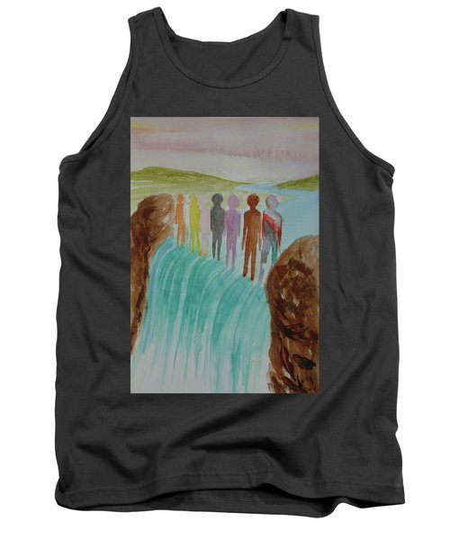 Tank Top featuring the painting We Are All The Same 1.2 by Tim Mullaney