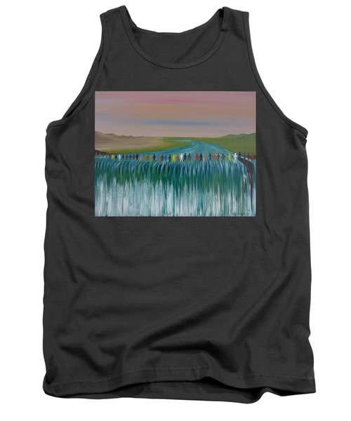 Tank Top featuring the painting We Are All The Same 1.3 by Tim Mullaney
