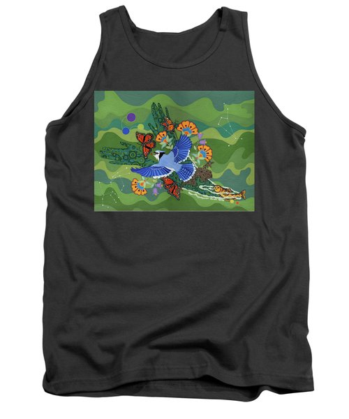 Tank Top featuring the painting We Are One by Chholing Taha