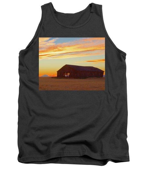 Weathered Barn Sunset Tank Top