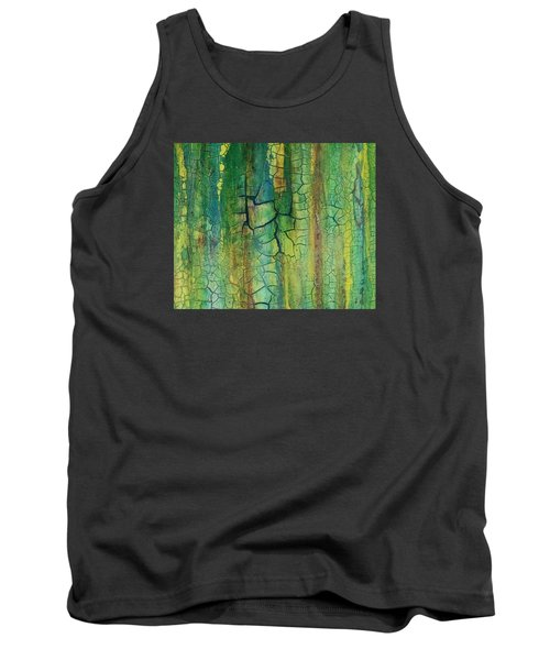 Weathered Moss Tank Top by Alan Casadei
