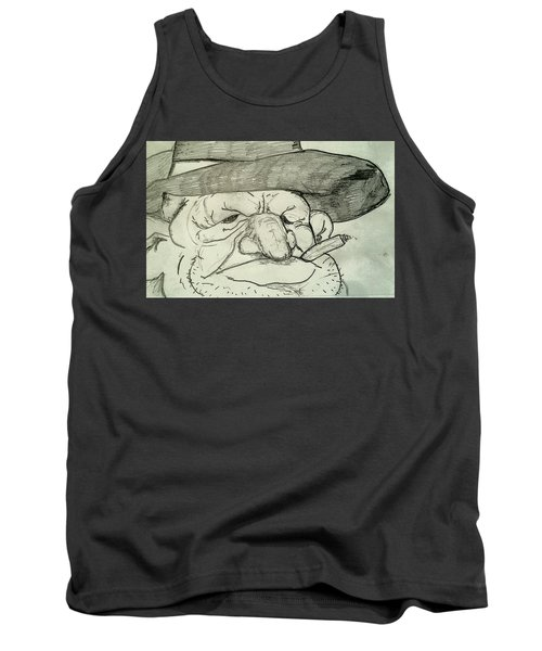 Weathered Old Man Tank Top by Yshua The Painter