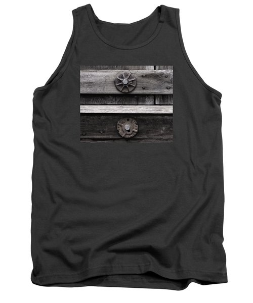 Weathered Wood And Metal Five Tank Top