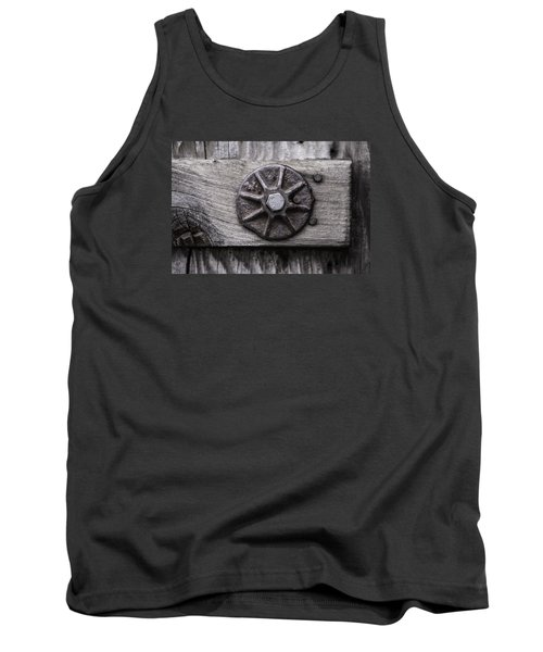 Tank Top featuring the photograph Weathered Wood And Metal One by Kandy Hurley