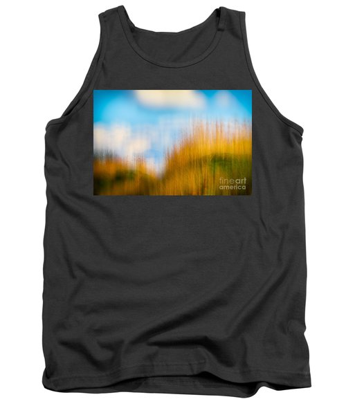 Weeds Under A Soft Blue Sky Tank Top