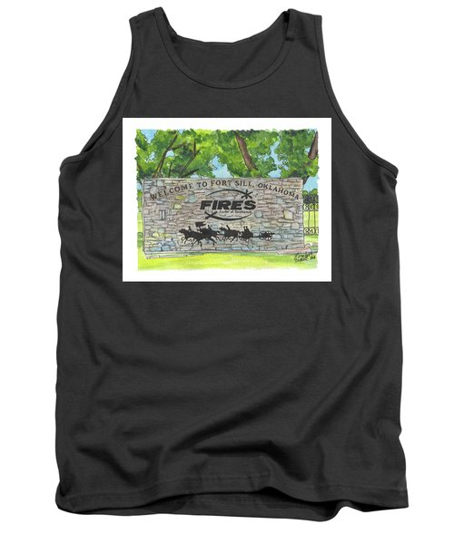 Welcome Sign Fort Sill Tank Top
