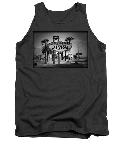 Welcome To Las Vegas Series Holga Black And White Tank Top